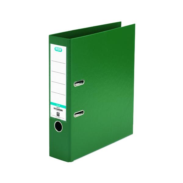 Elba 70mm Lever Arch File Plastic Green A4 100202174