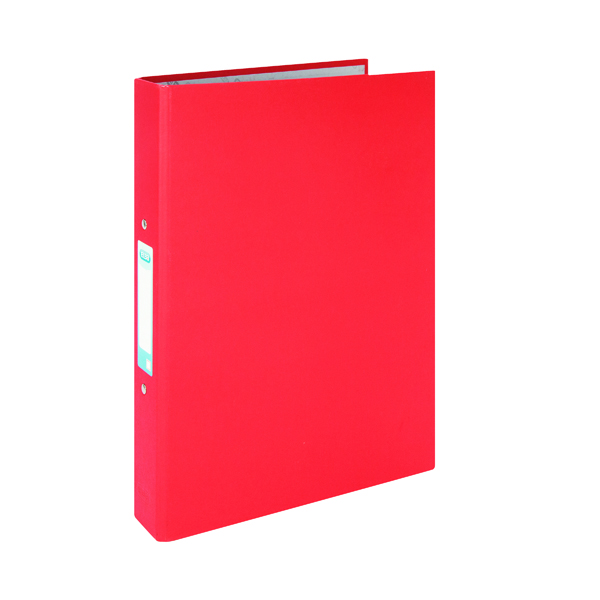 Elba A4 Red 25mm Paper Over Board Ring Binder (10 Pack) 400033497