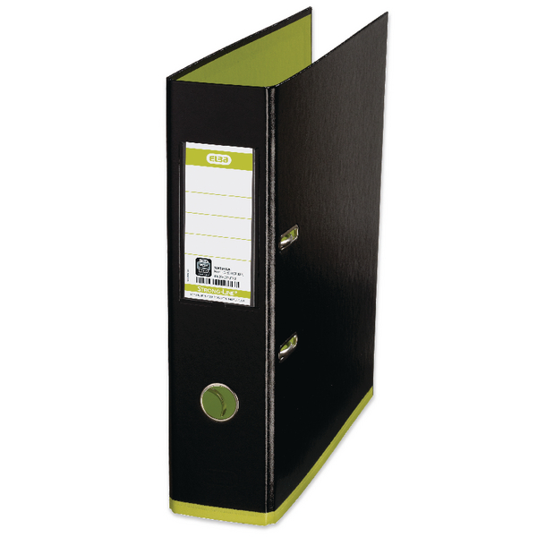 Elba MyColour A4 Black and Lime Lever Arch File 100081036
