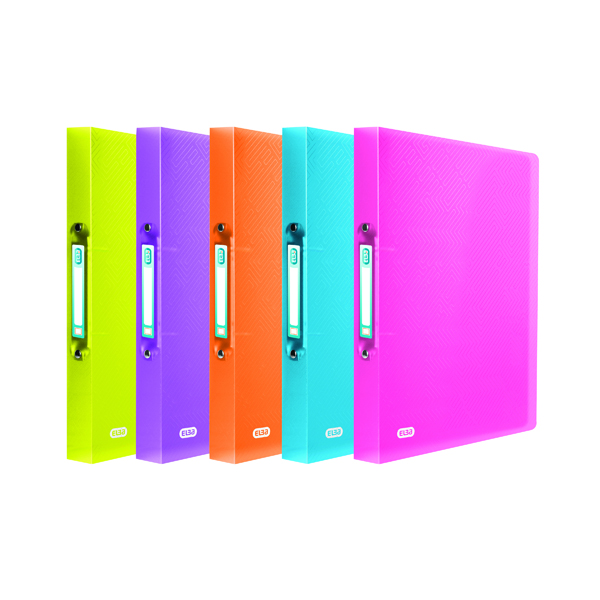 Elba Ring Binder 25mm Capacity A4 Assorted (10 Pack) 400101966