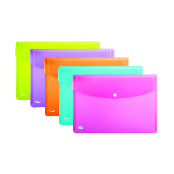 Elba Snap Wallet A4 Assorted (5 Pack) 100201306