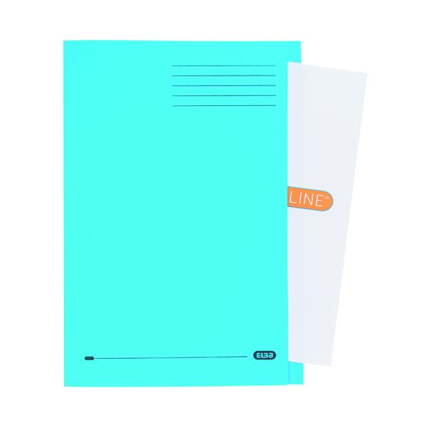 Elba Square Cut Folder Manilla Foolscap Blue (50 Pack) 100090020