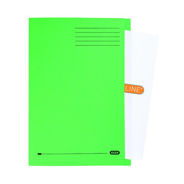 Elba Square Cut Folder Manilla 320gsm FC Green (50 Pack) 100090022