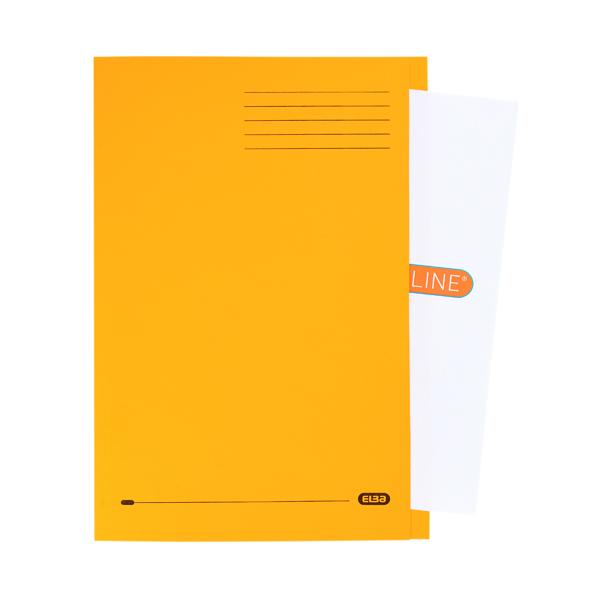 Elba Strongline Square Cut Folder Man FC Yellow (50 Pack) 100090023
