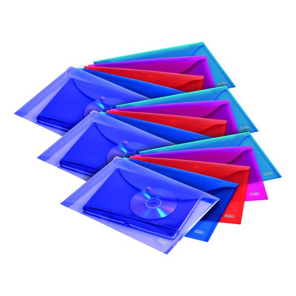 Elba Snap Wallet Polypropylene A4 Assorted (5 Pack) 3 For 2 BX810446