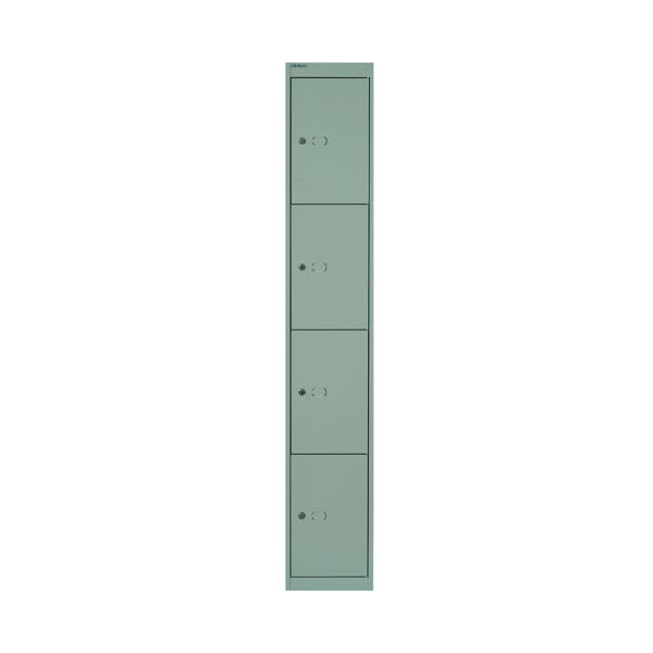 Bisley 4 Door Locker W305xD457xH1802mm Goose Grey BY02537