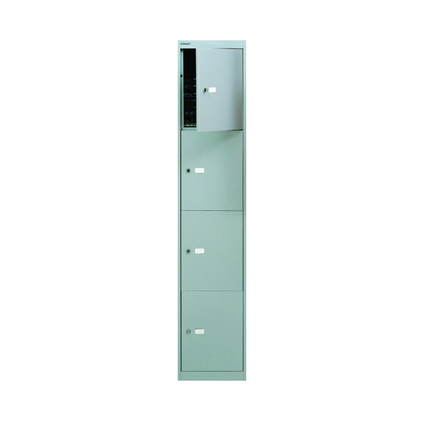 Bisley 4 Door Locker W305xD305xH1802mm Goose Grey BY09213