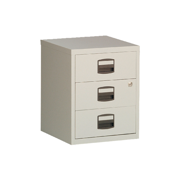 Bisley 3 Drawer A4 Home Filer Grey BY13461