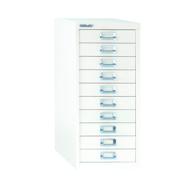Bisley 10 Drawer A4 Cabinet Chalk White BY19660