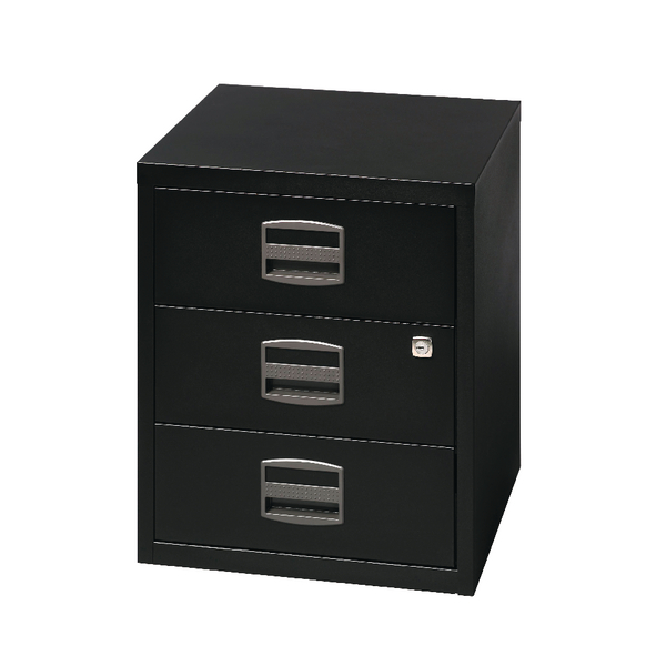 Bisley 3 Drawer A4 Home Filer Black BY33938