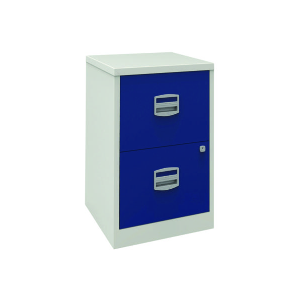 Bisley 2 Drawer A4 Home Filer Grey/Blue PFA2-8748