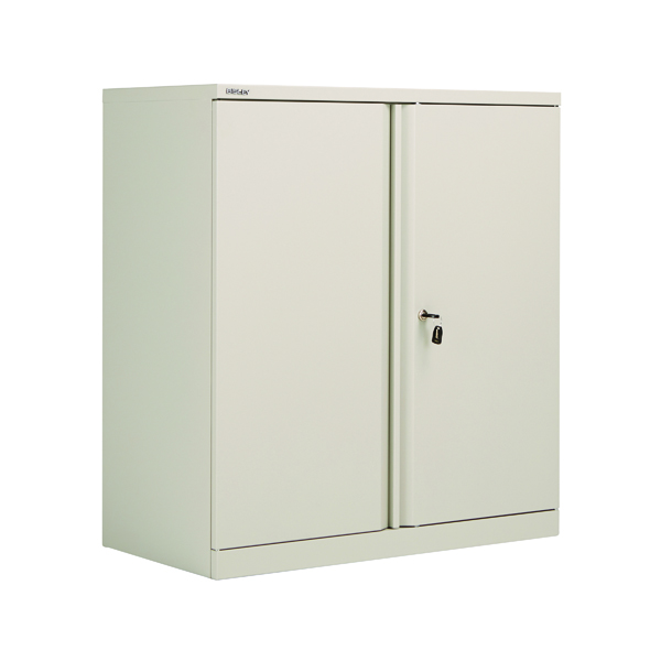 Bisley 2 Door 1000mm Cupboard Empty Goose Grey KF78709