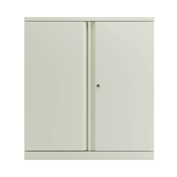 Bisley 2 Door Cupboard Chalk White 1016mm Empty KF78710