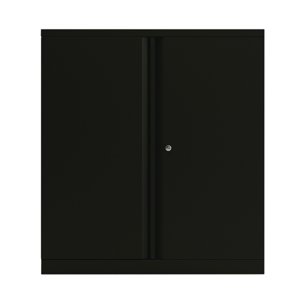 Bisley 2 Door Cupboard Black 1016mm Empty KF78711