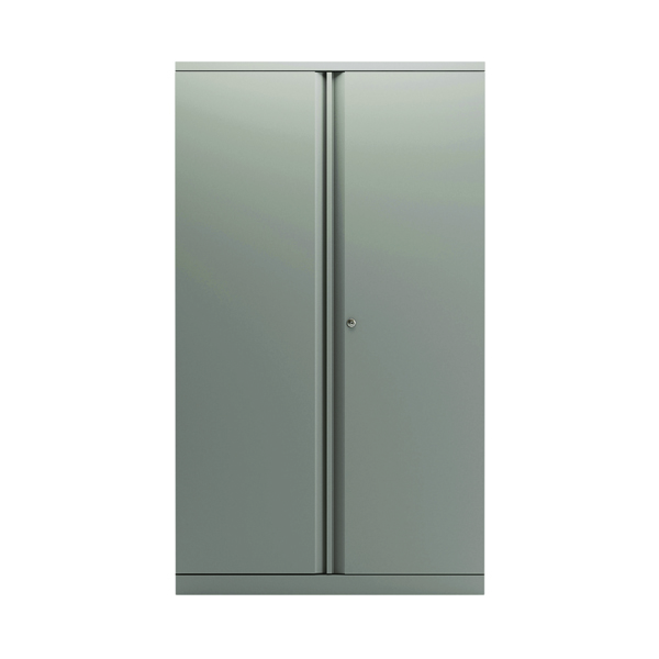 Bisley 2 Door Cupboard Goose Grey 1585mm Empty KF78712