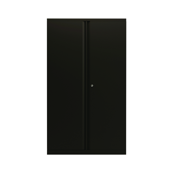 Bisley 2 Door Cupboard Black 1585mm Empty KF78714
