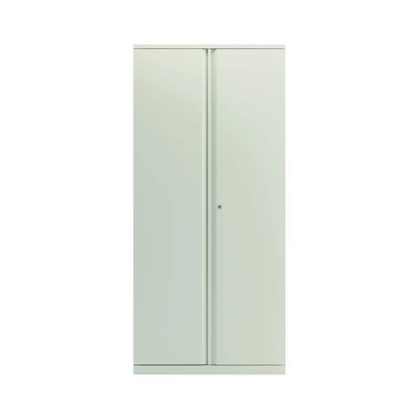 Bisley 2 Door Cupboard Chalk White 1985mm Empty KF78716