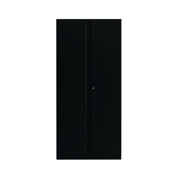 2 Door Cupboard Black 1985mm Empty KF78717