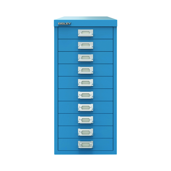 Bisley 10 Drawer Cabinet Azure Blue BY78740