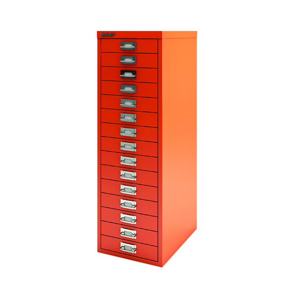 Bisley 39 15 Non-Lock Multidrawer Mandarin BY78747