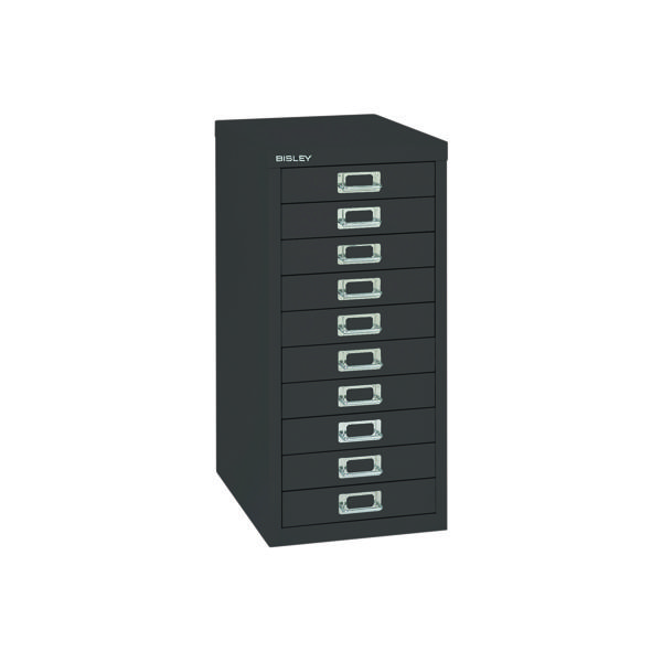 Bisley 10 Drawer Black Non-Locking Multi-Drawer Cabinet BY99639