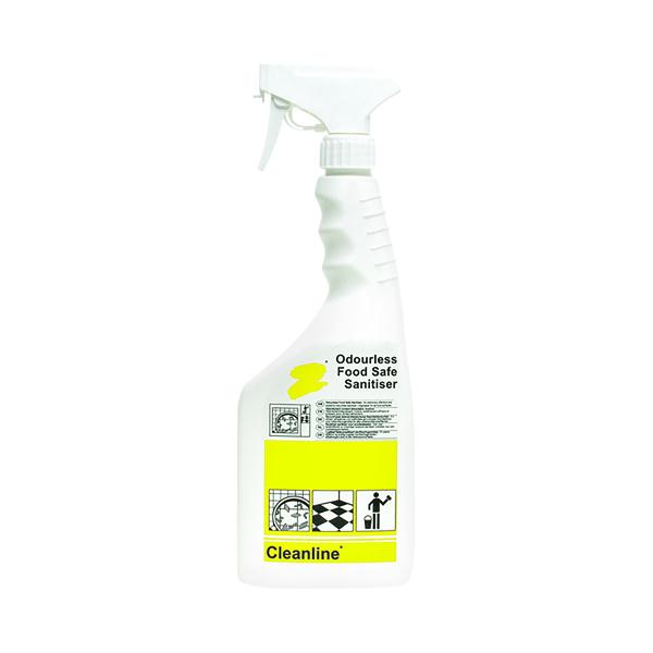 Cleanline Food Safe Sanitiser 750ml (6 Pack) N04453