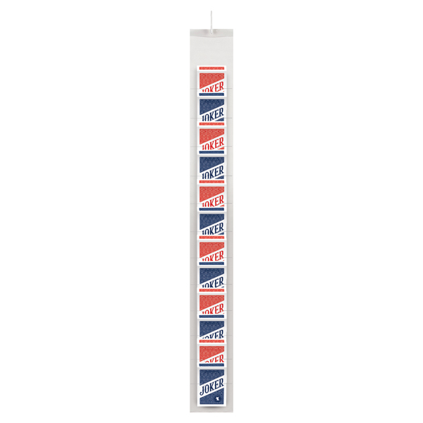 Joker Playing Card Clipstrip Red / Blue (12 Pack) 107112129