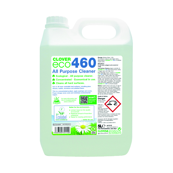 Clover ECO 460 All Purpose Cleaner 5 Litre (2 Pack) 460