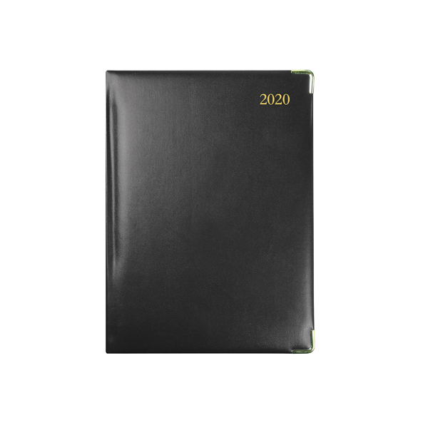 Collins Classic Diary Manager Week to View Appointment 2020 Black 1210V