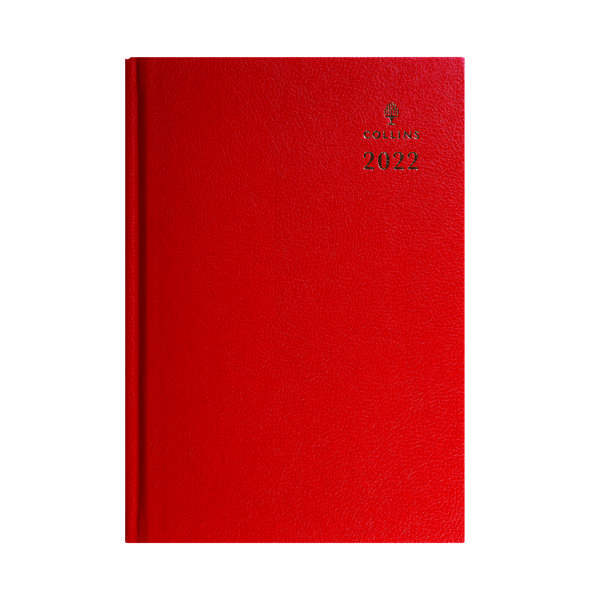 Collins A5 Desk Diary Week To View Red 2022 35.15-22