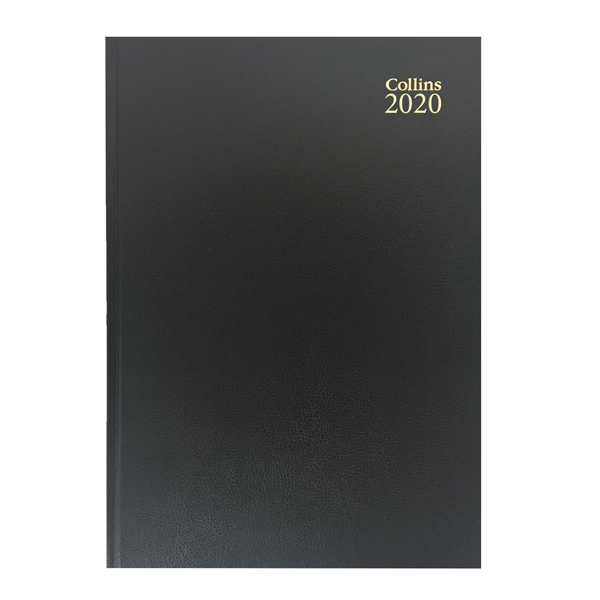 Collins Desk Diary A4 Day Per Page 2020 Black 44
