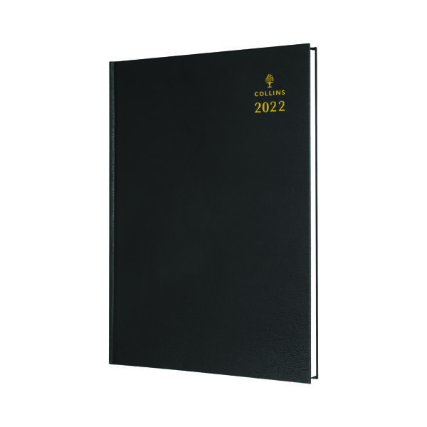 Collins A4 Desk Diary Day Per Page Black 2022 44.99-22