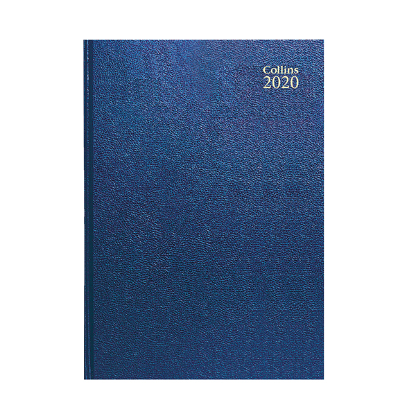 Collins Desk Diary A4 Day Per Page 2020 Blue 44