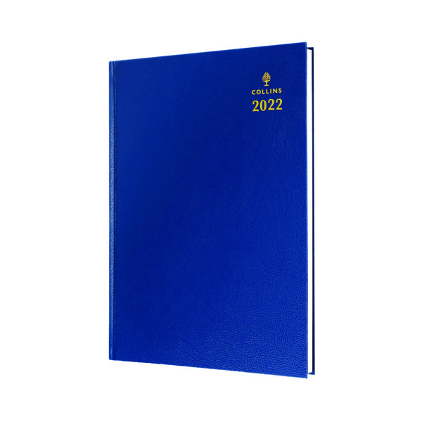 Collins A4 Desk Diary Day Per Page Blue 2022 44.60-22