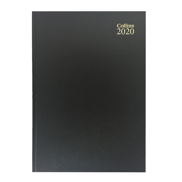 Collins A4 Desk Diary 2 Pages Per Day 2020 Black 47