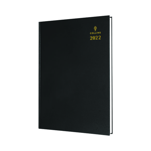Collins A5 Desk Diary Day Per Page Black 2022 52.99-22