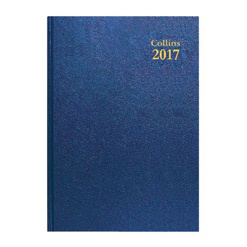 Collins Desk Diary Day Per Page A5 Red 2021 52