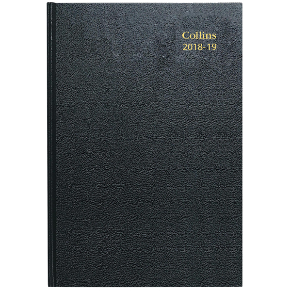 Collins Academic Diary Day Per Page Appt A5 Black 2020-21 52M