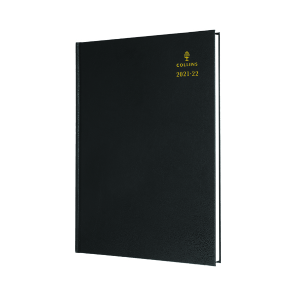Collins Academic Diary Day Per Page A5 Black 2021-22 52MBLK