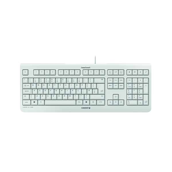 CHERRY KC 1000 Flat Wired Keyboard Pale Grey JK-0800GB-0