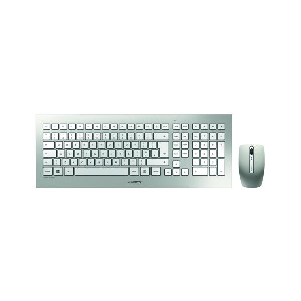 CHERRY DW 8000 Ultra Flat Wireless Keyboard/Mouse Set Silver JD-0310GB