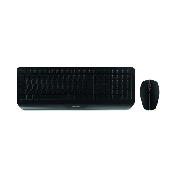 Cherry Gentix Desktop Wireless Keyboard & Mouse Set Black JD-7000GB-2