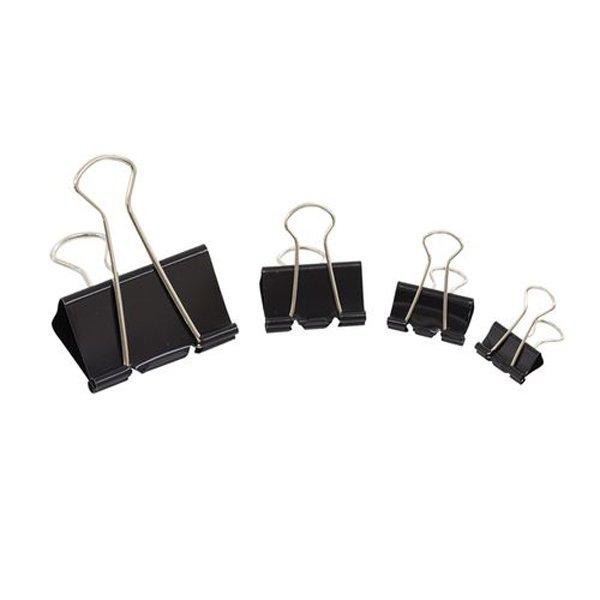 Initiative Foldback Clips 25mm Black (10 Pack)