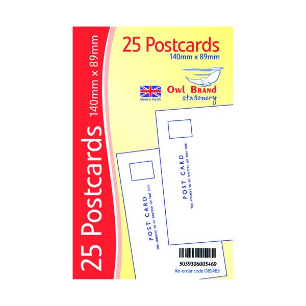 Plain Postcards x 25 White (20 Pack) OBS483