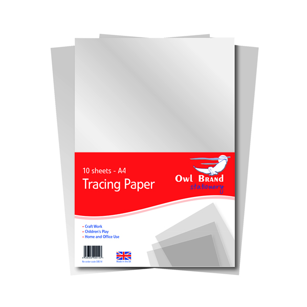 A4 Tracing Paper 10 Sheets (10 Pack) OBS702