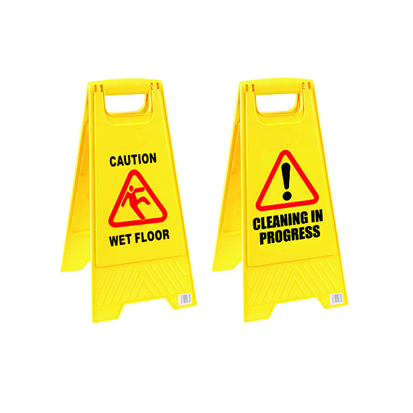 Caution Folding Safety Sign Yellow 101423