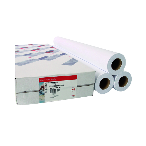 Canon 914mmx91m Uncoated Draft Inkjet Paper 97025851