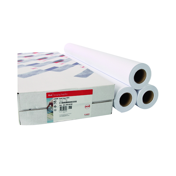 Canon 841mmx50m Uncoated Draft Inkjet Paper (3 Pack) 97003455