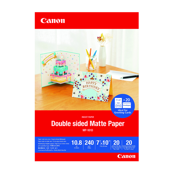Canon Double-Sided Matte Photo Paper 7x10 Inch 20 Sheets 4076C006