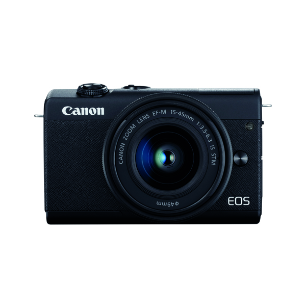 Canon EOS M200 Digital Camera With EF-M 15-45mm Lens Black 3699C028